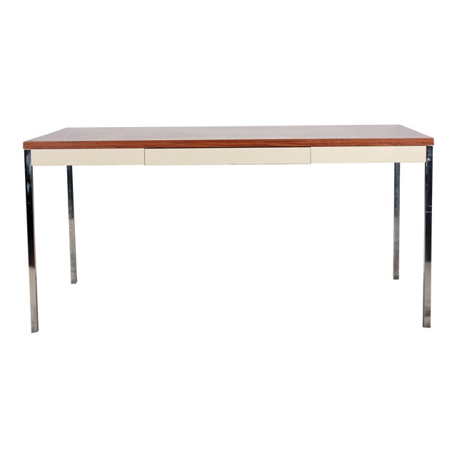 Steelcase modern minimalist writing desk chairish for Minimalist writing