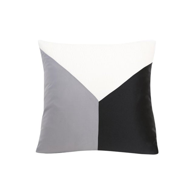 Image of Gray Cubic Design Decorative Pillow