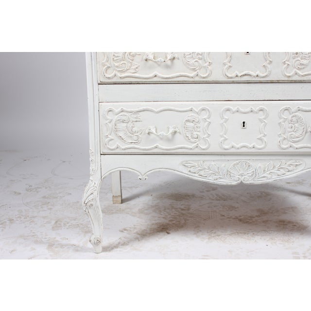 French Louis XV Style Secretary Desk - Image 4 of 5