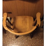 Image of Mid-Century Modern Captain's Table & Six Chairs