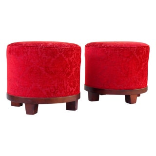 Upholstered Drum Ottoman