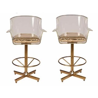 Charles Hollis Jones Swivel Bar Stools - Set of 2
