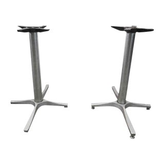 Iron Metal Table Bases - A Pair