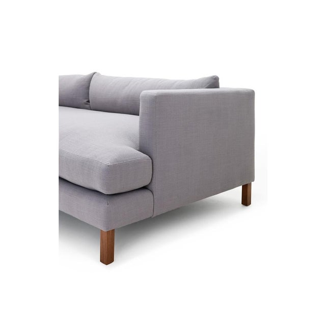 Clad Home Modern Low Profile Linen Sofa - Image 2 of 5