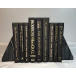 Image of Modern Display Books in Black and Gold - Set of 9