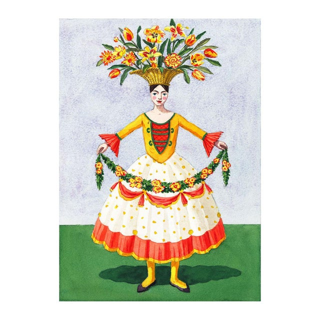"""""""Flower Lady With Garland"""" Giclée Print - Image 2 of 3"""