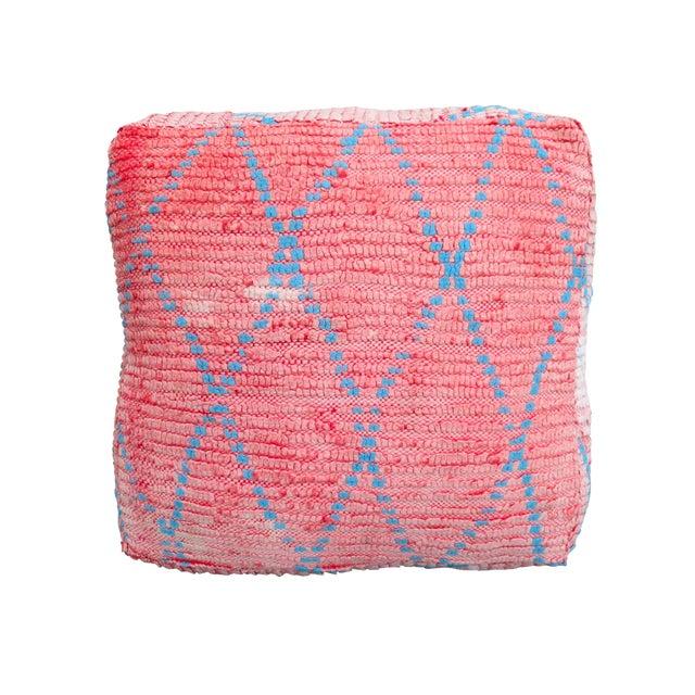 Vintage Moroccan Pink Floor Pillow - Image 1 of 3