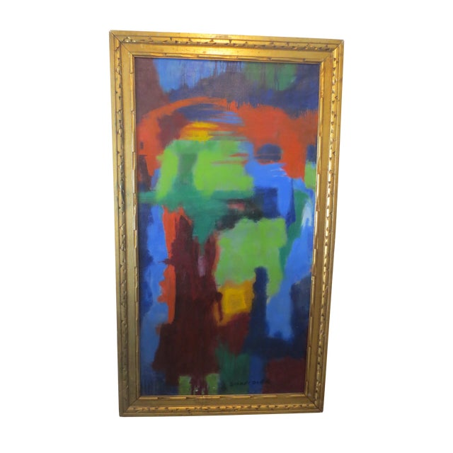 Image of Large Colorful Abstract by Blanche Schmiedler