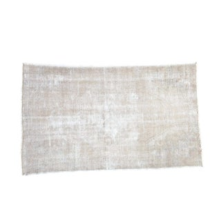 "Vintage Gray Distressed Oushak Rug - 4'4"" x 7'2"""