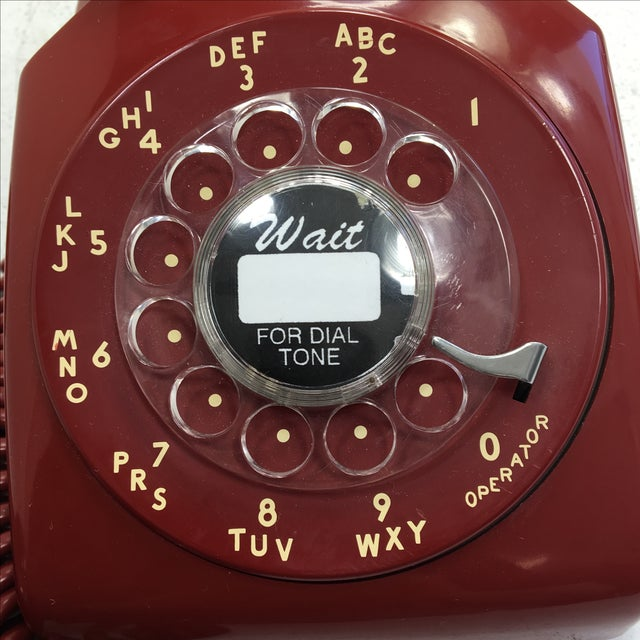 Western Electric Red Rotary Dial Telephone - Image 8 of 11