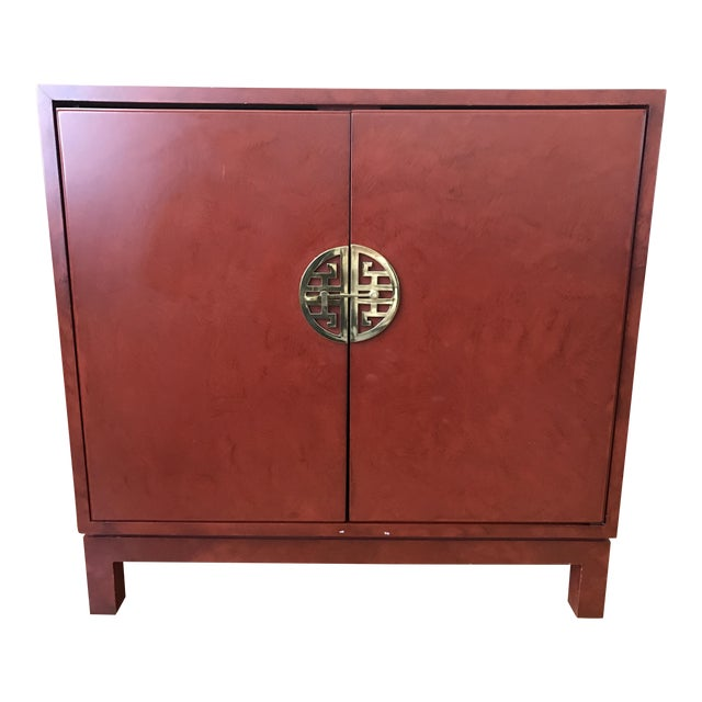 Asian chinoiserie console cabinet chairish for Asian console cabinet
