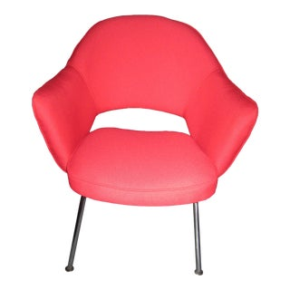 Vintage Saarinen for Knoll Candy Apple Red Executive Chair