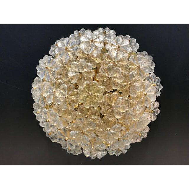 Ernst Palme Extra Large Floral Glass Flush Mount - Image 7 of 7