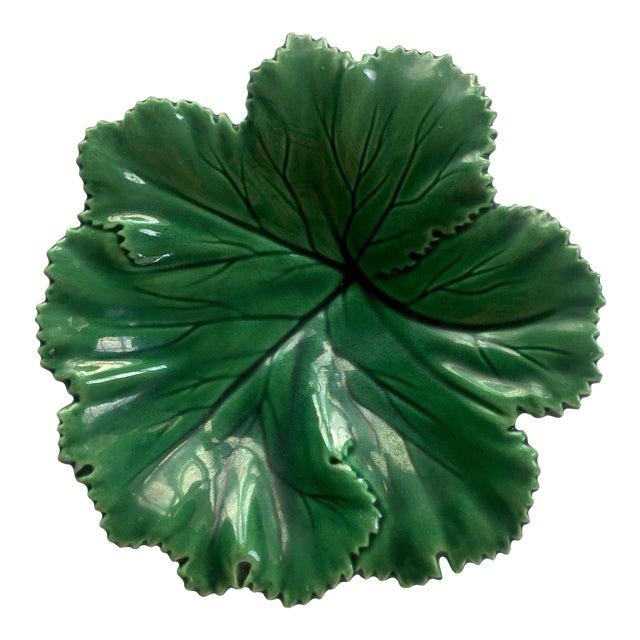 Vintage Portuguese Majolica Leaf Plate - Image 1 of 10