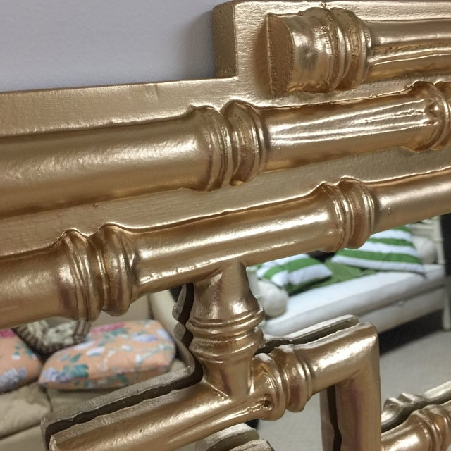 Labarge Gold Leaf Faux Bamboo Mirror - Image 4 of 5