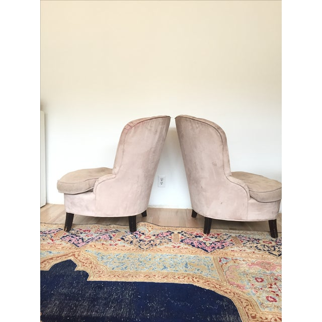 Channel Back Lounge Chairs - A Pair - Image 3 of 5