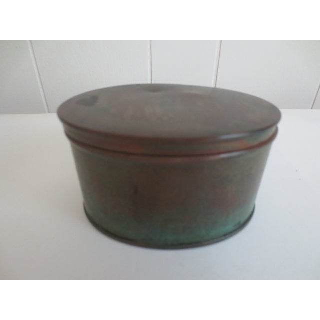 Image of Antique Brass Inkwell With Glass Liner
