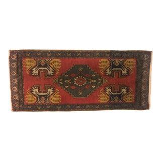 Turkish Anatolian Handmade Bohemian Rug - 1′7″ × 3′6″