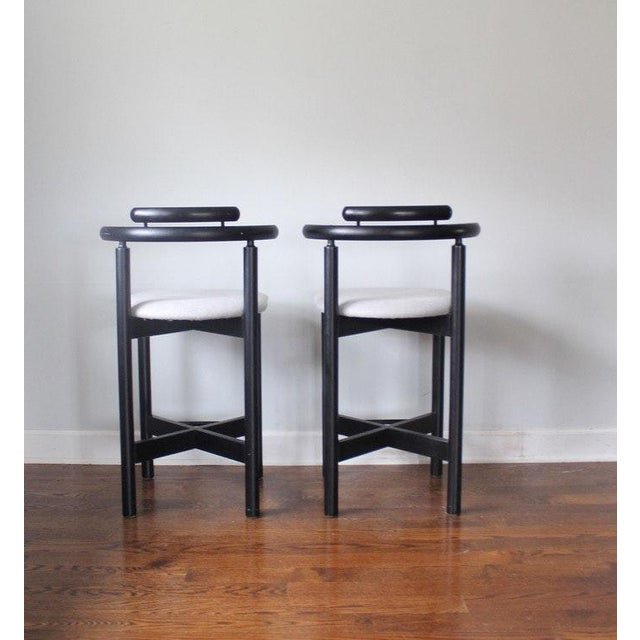 Image of Mid-Century Modern Gangso Mobler Bar Stools - A Pair