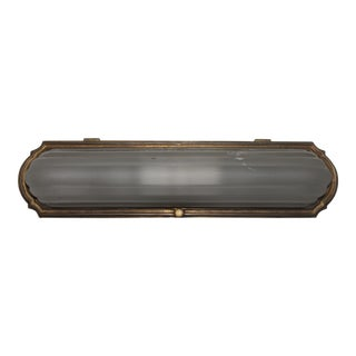 Art Deco Gilt Bronze & Frosted Glass Sconce