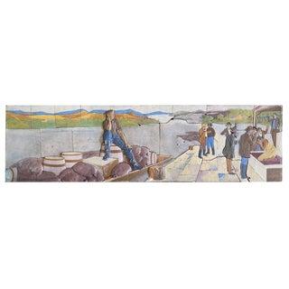 Terra Cotta Mosaic of Abraham Lincoln by Kristian Schneider