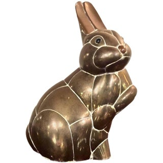 Brass Bunny Rabbit Sculpture