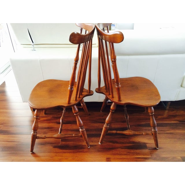Heywood Wakefield American Braceback Chairs - Pair - Image 5 of 8