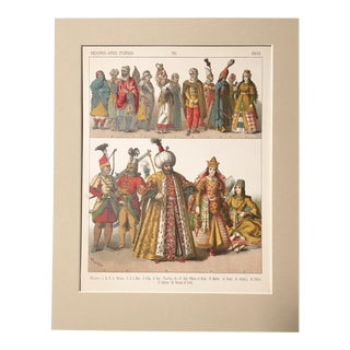 "19th Century ""Moors and Turks 1500"" Costume Print"