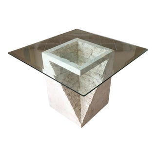 Mactan Stone & Glass Side Table