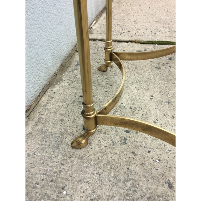 Vintage La Barge Octagonal Brass Side Table - Image 5 of 8