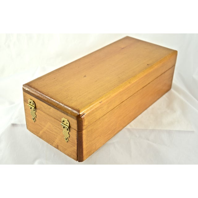 Handcrafted Wood Box with Dividers Inside - Image 7 of 7