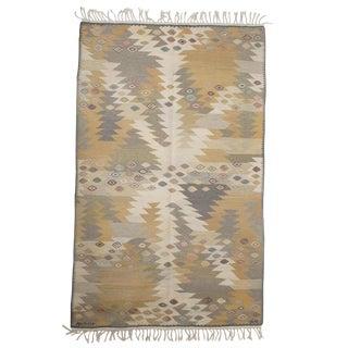 Tanga (Seaweed) Flat Weave Scandinavian Rug by Barbro Nilsson