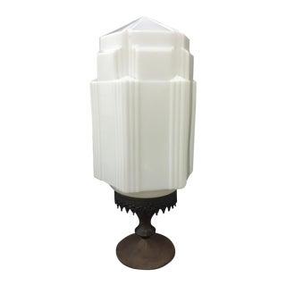 Opaque Art Deco Lamp
