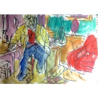 Artist in His Studio Painting by David Derish