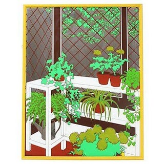 1970s Greenhouse Art Mirror