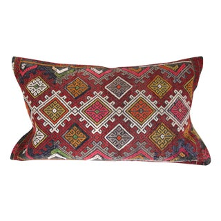 Burgundy Turkish Kilim Cushion