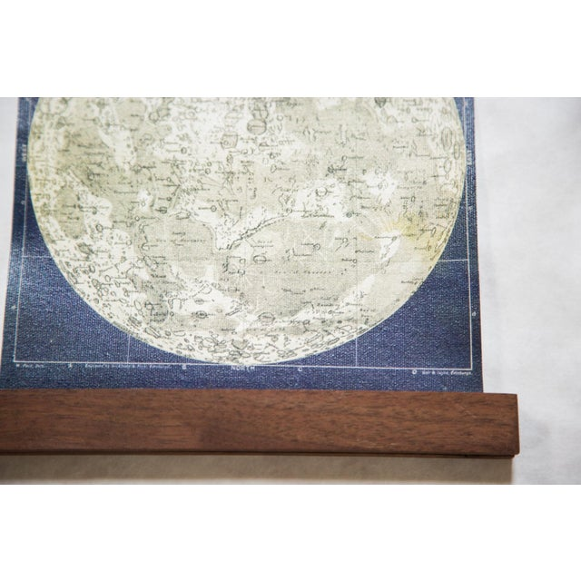 Antique Moon Chart Pull Down Revival Print - Image 3 of 5