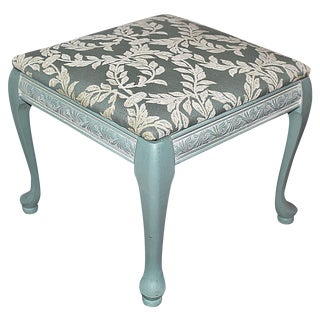 Queen Anne-Style Painted Footstool
