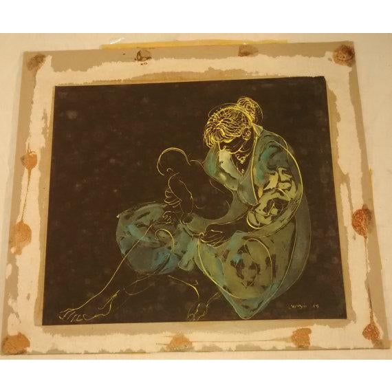 Abstract Painting Joe Capozio Woman Child - Image 5 of 7