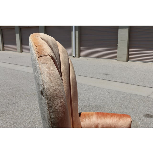Velvet Highback Swivel Chairs - A Pair - Image 10 of 10