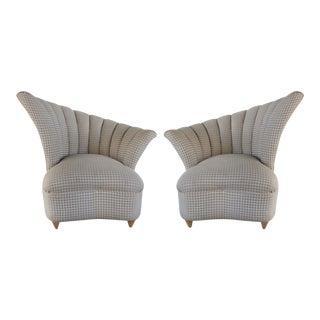 Art Deco Revival Club Chairs - A Pair