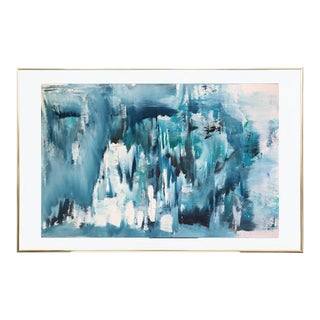 Arctic Ice Burg Abstract Painting
