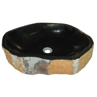 Natural Basalt Pillar Stone Sink
