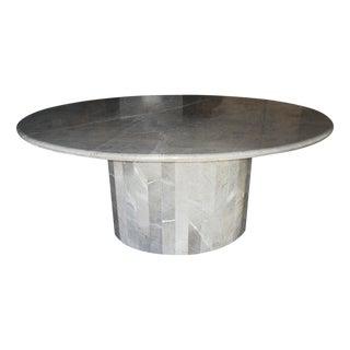 Vintage 1970s Ovoid Italian Marble Table