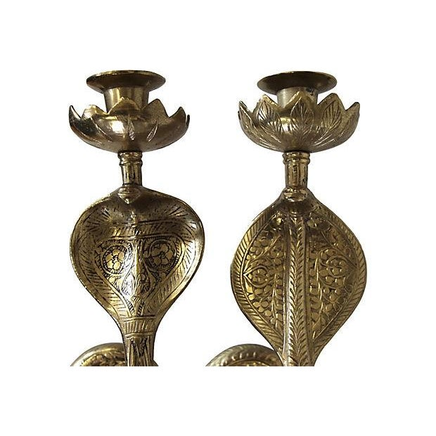 Brass Cobra Wall Sconces - A Pair Chairish