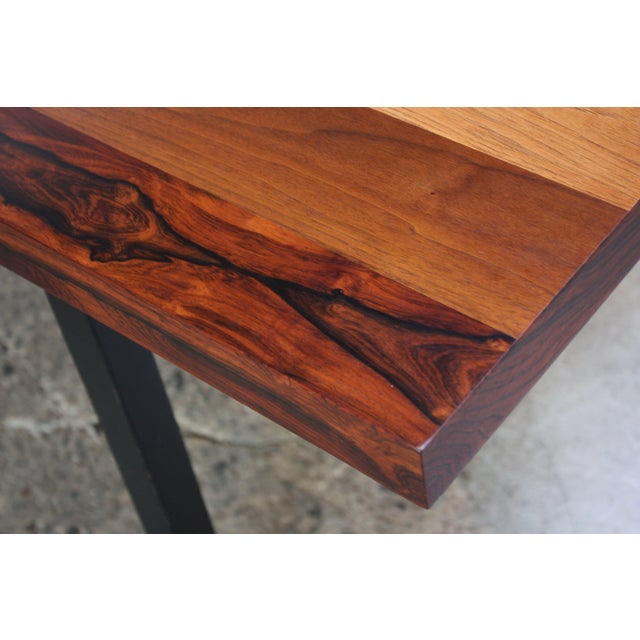 Directional Mixed-Wood Dining Table by Milo Baughman - Image 4 of 11
