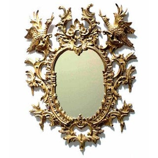 Chinoiserie Rococo Giltwood Mirror