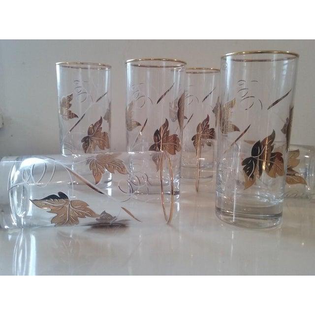 Elegantly Playful Gold White Glasses - Set of 6 - Image 3 of 4