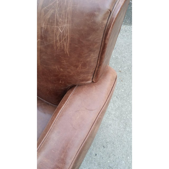 Art Deco Style Leather Club Chair - Image 6 of 7