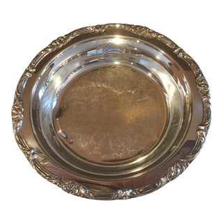 Vintage Silver-Plated Serving Bowl Dish